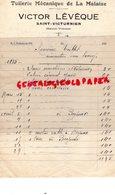 87- SAINT VICTURNIEN - RARE FACTURE VICTOR LEVEQUE- TUILERIE MECANIQUE DE LA MALAISE- 1935 - Petits Métiers