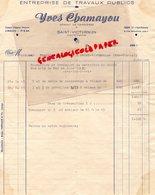 87- SAINT VICTURNIEN - RARE FACTURE YVES CHAMAYOU-GERANT DE CARRIERES-ENTREPRISE TRAVAUX PUBLICS- 1949 - Petits Métiers