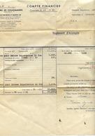 77 Sucrerie De COULOMMIERS - Compte Financier Campagne 1954-1955 - Réglement D'Acompte - Coulommiers