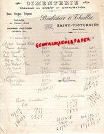 87- SAINT VICTURNIEN - RARE FACTURE BOULESTEIX & THEILLET- CIMENTERIE TRAVAUX EN CIMENT - - Petits Métiers