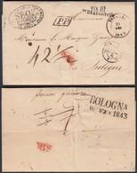 Belgique 1842 - Précurseur De Tournai Vers Bologne (6G23950) DC1046 - 1830-1849 (Belgique Indépendante)