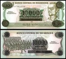 NICARAGUA 10000 CORDOBAS On 10 ND 1989 P 158 UNC - Nicaragua