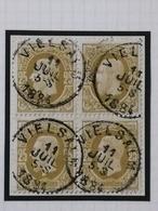 COB N° 32 (bloc De 4) Oblitération Vielsalm 1884 - 1869-1883 Léopold II
