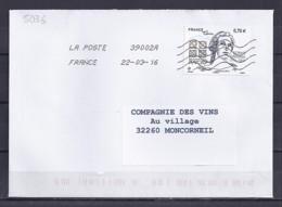 TP N° 5036 SUR LETTRE DE 2016 - Marcophilie (Lettres)