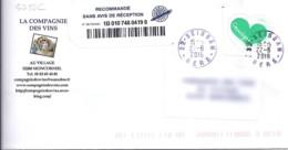 TP N° 5050C SUR LETTRE  RECOMMANDEE DU 22.06.16   ///RARE/// - 1961-....