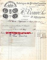 87- SAINT LEONARD DE NOBLAT- RARE FACTURE H. BEAUNE- P. MARTIN-FABRIQUE FRUITS CONFITS-CONFITURES-CONFISEUR-1937 - Petits Métiers