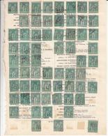 Feuille De Timbre Type Sage - France