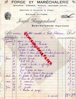87- SAINT VICTURNIEN- RARE FACTURE JOSEPH RAYGONDAUD-FORGE MARECHALERIE-FORGERON MARECHAL FERRANT-1939 - Petits Métiers