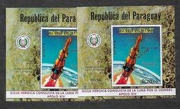 #B98# PARAGUAY MICHEL BL 152+BL 152 MUESTRA MNH**, SPACE. - Paraguay