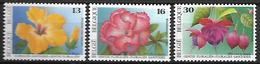 BELGIQUE     -  1995.   Y&T N° 2589 à 2591 *.  Hibiscus, Rhododendron, Fuschia.  Série Complète. - Belgique
