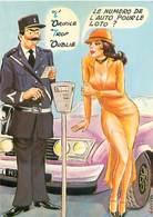 Illustrateur Carriere -  Gendarme Le Numero De L' Auto Pour Le Loto  W 82 - Humour