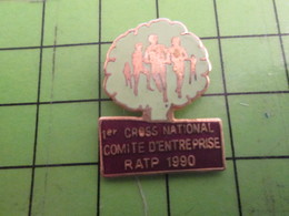 417 Pins Pin's / Rare Et De Belle Qualité  THEME : SPORTS / ATHLETISME RATP CROSS NATIONAL COMITE D'ENTREPRISE 1990 - Athletics