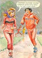 Illustrateur Carriere -  Femmes Jogging Trainig  W 83 - Humour