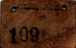 WWII , POW STALAG XIB WOODEN TAG , CONCENTRACION CAMP - 1939-45
