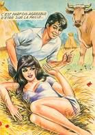 Illustrateur Carriere -  Femme Vache   W 84 - Humour