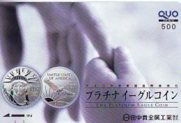 Telecarte JAPON (903) COIN * Statue De La Liberte * New York USA * PHONECARD JAPAN * STATUE OF LIBERTY * - Landscapes