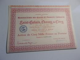 Manufactures Des Glaces De SAINT GOBAIN,CHAUNY & CIRRY - Non Classés
