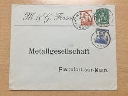 K6 Belgien 1913 Brief Von Huy Nach Frankfurt/Main - 1912 Pellens
