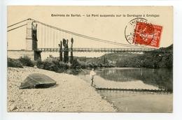 Environs De Sarlat Le Pont Suspendu Sur La Dordogne à Grolejac - France