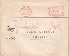 SUISSE 1935 EMA DE NYON - Lettres & Documents