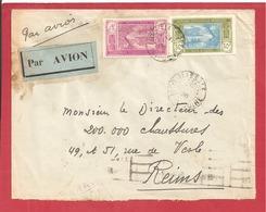 Y&T N°69+83 GRAND BASSAM   Vers  FRANCE 1936 2 SCANS - Côte-d'Ivoire (1892-1944)