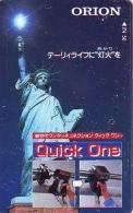Telecarte JAPON (855) Statue De La Liberte * New York USA * PHONECARD JAPAN * STATUE OF LIBERTY * - Landscapes