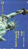 Telecarte JAPON (856) Statue De La Liberte * New York USA * PHONECARD JAPAN * STATUE OF LIBERTY * - Landscapes