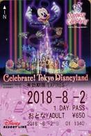 "Japan - Japanese Card DISNEY RESORT LINE.  Carte DISNEY RESORT LINE Du Japon.   ""Mickey  -  35 Ans Du Parc"". - Disney"