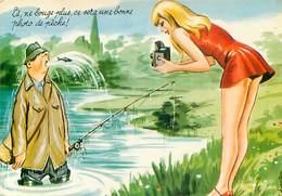 Illustrateur Carriere -  Peche Ne Bouge Plus Photo    W 91 - Humour