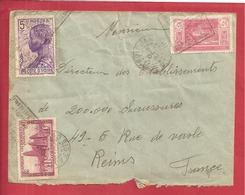 Y&T N°66+120+112 ABIDJAN  Vers  FRANCE 1937 2 SCANS - Côte-d'Ivoire (1892-1944)