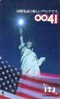 Telecarte JAPON (861) Statue De La Liberte * New York USA * PHONECARD JAPAN * STATUE OF LIBERTY * - Landscapes