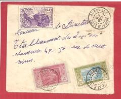 Y&T N°64+69+112 AGBOVILLE  Vers  FRANCE 1937 2 SCANS - Côte-d'Ivoire (1892-1944)