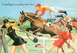 Illustrateur Carriere -  Tiercé Ce Yearling Et Son Jockey Iront Loin  W 93 - Humour
