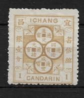1896 CHINA ICHANG-1 CANDARIN UNUSED- CHAN LI-2 - Chine