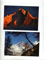 Carte Les Drus  Aiguille Verte Cachet Chamonix - France