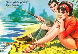 Illustrateur Carriere -  Peche On Ne Peche Plus?  W 94 - Humour