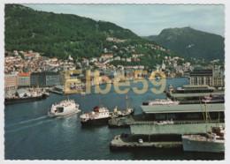 Norvège, Bergen, Vue Du Port, Ferries, Neuve - Norvegia