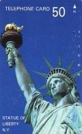 Telecarte JAPON (837) Statue De La Liberte * New York USA * PHONECARD JAPAN * STATUE OF LIBERTY * - Landscapes