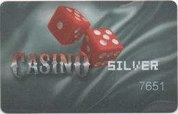 Bulgarie : Carte De Membre Casino Silver #7651 - Cartes De Casino