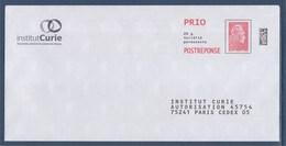= Postréponse Marianne L'Engagée Institut Curie Prioritaire Port Payé 193325 - Entiers Postaux