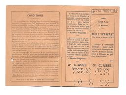 CHEMIN DE FER DE PARIS A LYON A LA MEDITERRANEE ET ITALIA - TRAIN TICKET - 1922 - Autres
