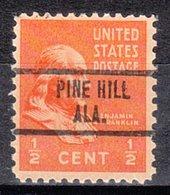 USA Precancel Vorausentwertung Preo, Locals Alabama, Pine Hill 734 - Vereinigte Staaten