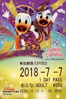 "Japan - Japanese Card DISNEY RESORT LINE.  Carte DISNEY RESORT LINE Du Japon.   ""Donald & Daisy  -  35 Ans Du Parc"". - Disney"