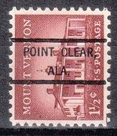 USA Precancel Vorausentwertung Preo, Locals Alabama, Point Clear 807 - Vereinigte Staaten