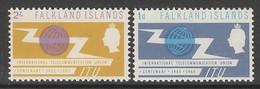 PAIRE NEUVE DES ILES FALKLAND - CENTENAIRE DE L'UNION INTERNATIONALE DES TELECOMMUNICATIONS N° Y&T 148/149 - Télécom