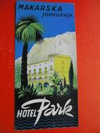 MAKARSKA.HOTEL PARK.KOMPAS - Dépliants Touristiques