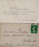 VP13.611 - MILITARIA - CDV - Carte De Visite - Mr P.THIBAUDEAU Ancien Gendarme à LAVELANET Pour BATHURST ( Gambie ) - Cartes De Visite