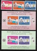 #B176B# PANAMA MICHEL 933/935+BL 59/60 MNH**, SPACE, CHURCHILL. - Panama