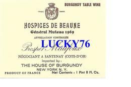 Hospices De Beaune General Muteau 1969 Prosper Maufoux Santenay - Bourgogne