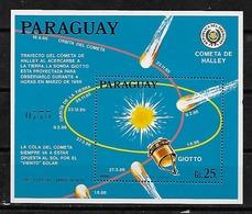 #B159# PARAGUAY MICHEL BL 435 MNH**, SPACE, HALLEY COMET. - Paraguay